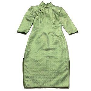 Vintage Silk Jacquard Cheongsam/Qipao Dress